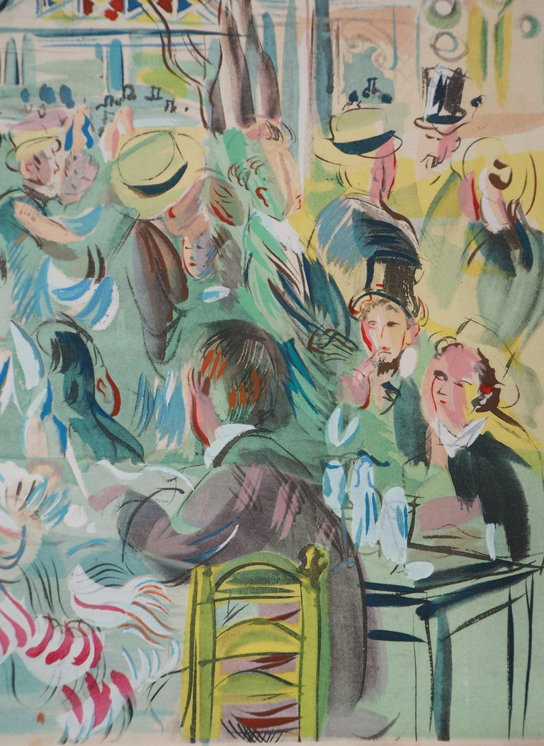 Tribute to Renoir : Dancing Cafe - Original Lithograph For Sale 2