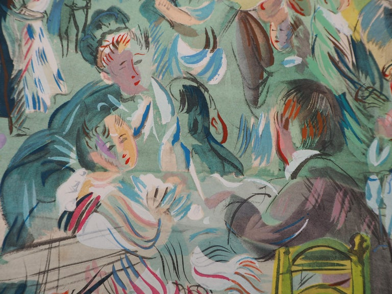 Tribute to Renoir : Dancing Cafe - Original Lithograph For Sale 3