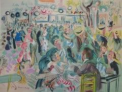 Tribute to Renoir : Dancing Cafe - Original Lithograph
