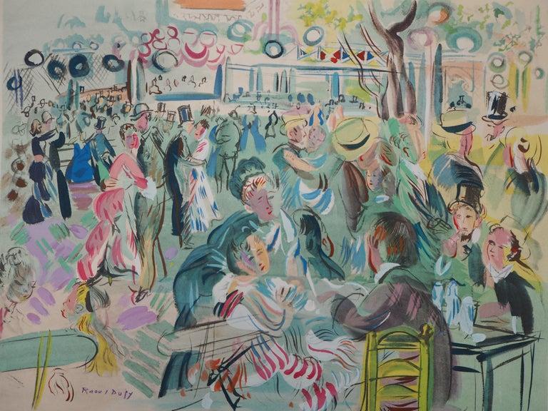 Raoul Dufy Figurative Print - Tribute to Renoir : Dancing Cafe - Original Lithograph