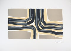 Four Directions, Abstract Composition - Original lithograph