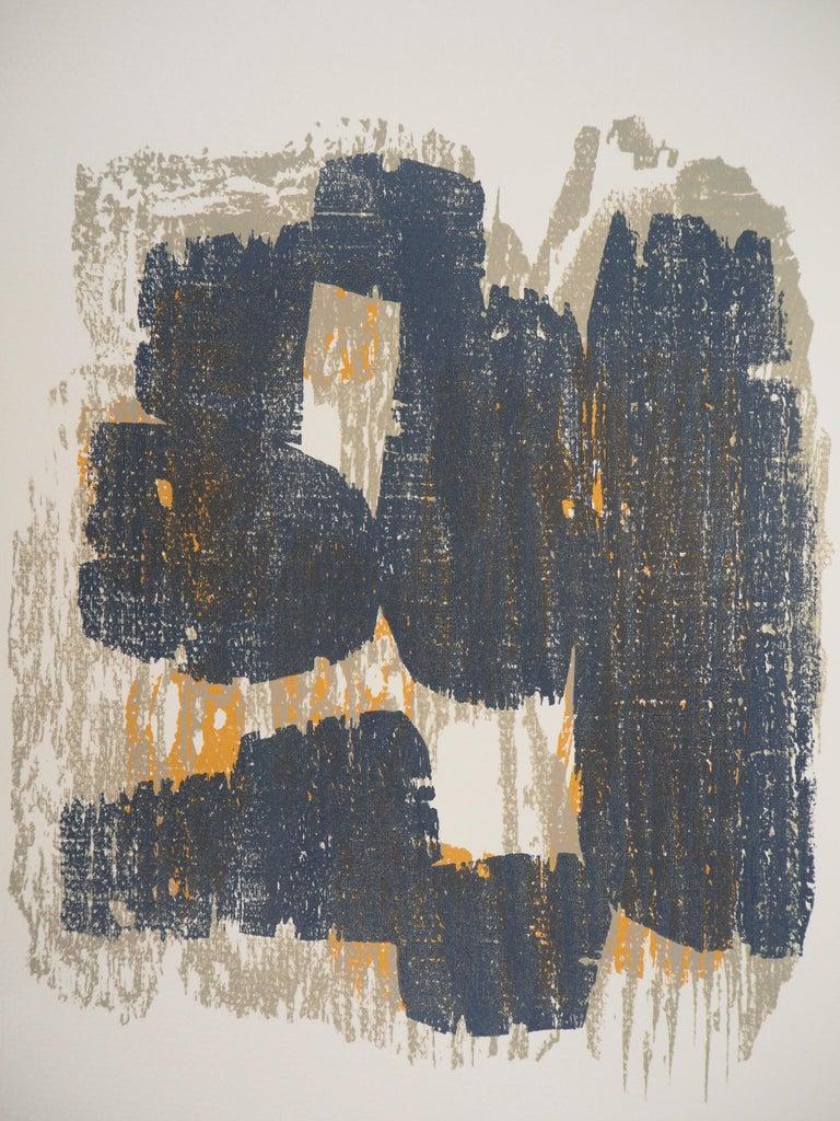 Raoul UBAC Rythm (Slates), 1962  Original woodcut print On vellum 32 x 24 cm (c. 13 x 10 in)  Excellent condition