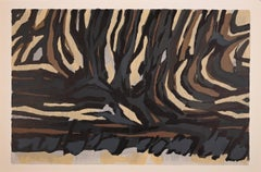 Striped Composition - Original Lithograph by Raoul Ubac - 1964