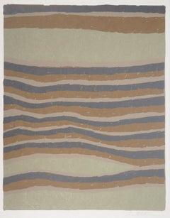Surrealist Sand Wrinkles - Handsigned Original Lithograph
