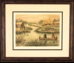 Chicago in 1833,  Raoul Varin signed etching
