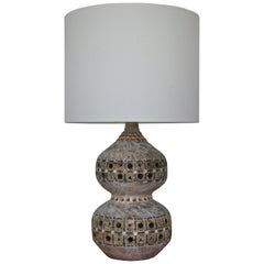 Raphael Giarrusso French Ceramic Table Lamp Accolay, 1968