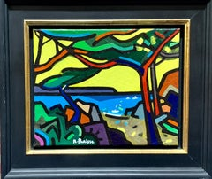 20th century Abstract French beach seaside landscape