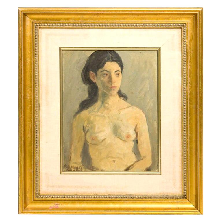 Raphael Soyer Nude Oil Painting