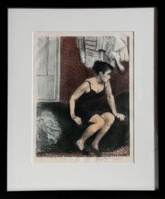 """Behind Screen (Model Resting)"", 1949, Raphael Soyer"