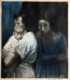 Two Women and Child by Raphael Soyer