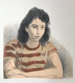 Young Woman, Striped Tee