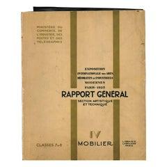 Rapport General, Section Artistique et Technique Paris 1925, IV Mobilier