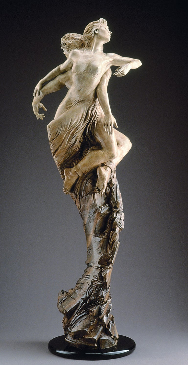 """This is a sold out edition bronze #7 of 20 purchased from Vail Fine Art with """"Certificate of Authenticity"""". Rapture in this sculpture, Eichinger explores the nature of a committed and loving relationship. From its polished granite base rises a"""