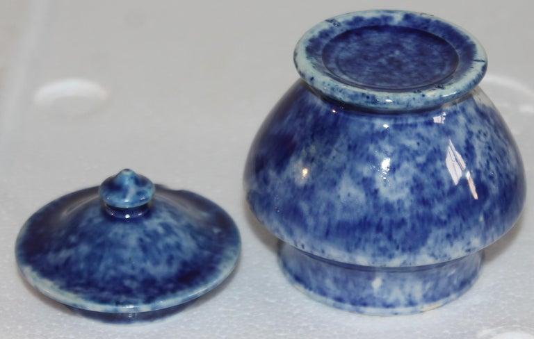 Rare 12 Pcs. Sponge Ware Child's Tea Set For Sale 1