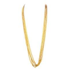 """14 Karat Gold 12' 5"""" Alexander Style Chain Stamped MN"""
