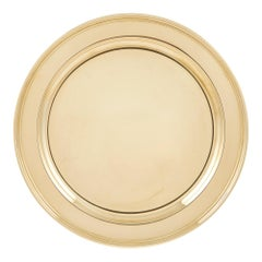 Rare 14-Karat Gold, Tiffany Round Tray, Solid Gold