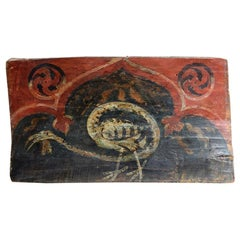 Rare 15th Century Renaissance North Italy Hand Carved Ceiling Tile