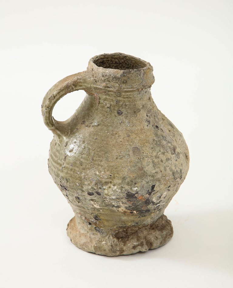 17th Century German Low Countries Grey Ceramic Pitcher For Sale 2