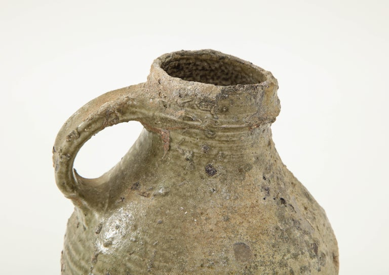 17th Century German Low Countries Grey Ceramic Pitcher For Sale 3