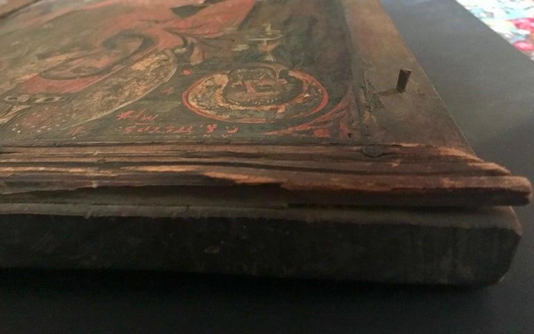 Rare 17th Century Russian Orthodox Icon For Sale 3