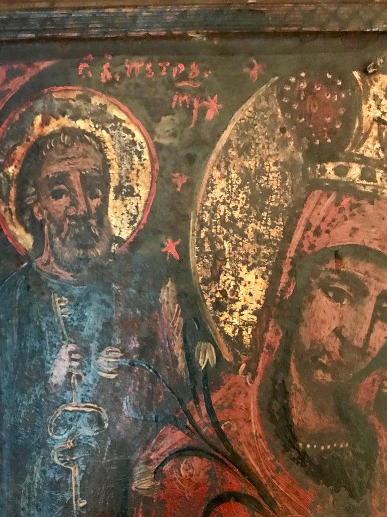 Renaissance Rare 17th Century Russian Orthodox Icon For Sale
