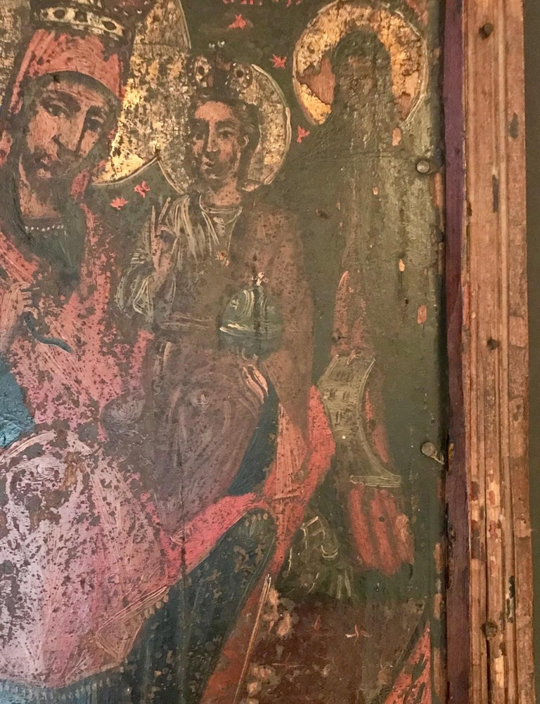 Rare 17th Century Russian Orthodox Icon In Fair Condition For Sale In Poughkeepsie, NY