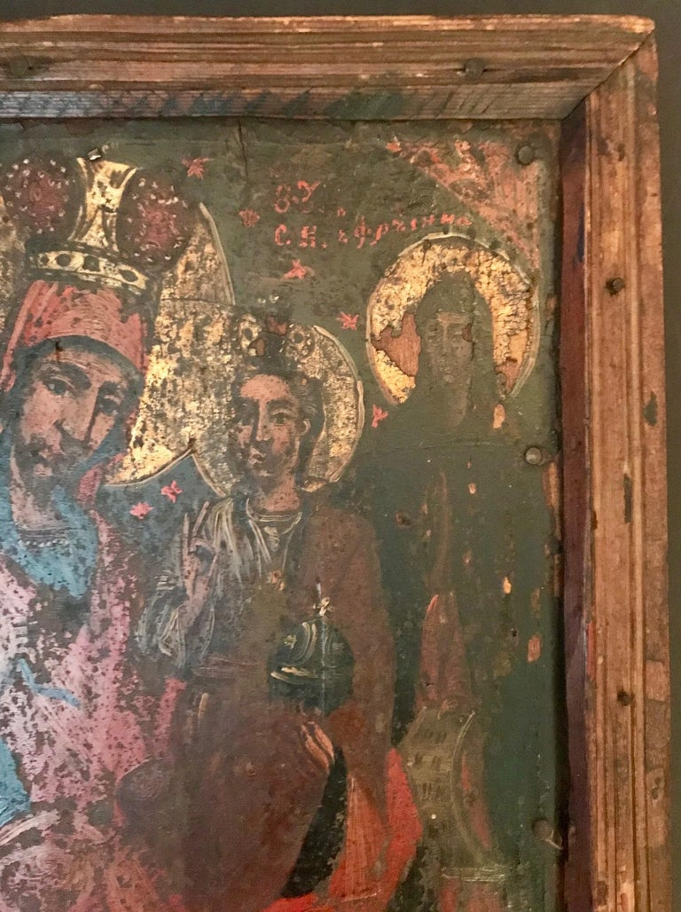 18th Century and Earlier Rare 17th Century Russian Orthodox Icon For Sale