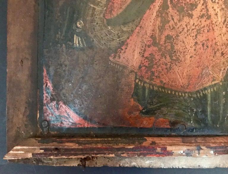 Rare 17th Century Russian Orthodox Icon For Sale 1