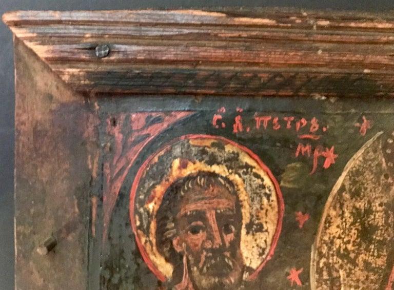 Rare 17th Century Russian Orthodox Icon For Sale 2