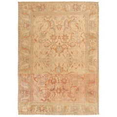 Rare 17th Century Silk Persian Polonaise Rug. Size: 4 ft 11 in x 6 ft 11 in