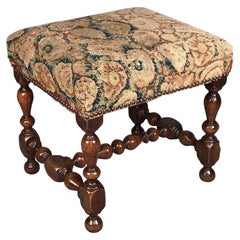 Rare 17th Century Walnut Stool