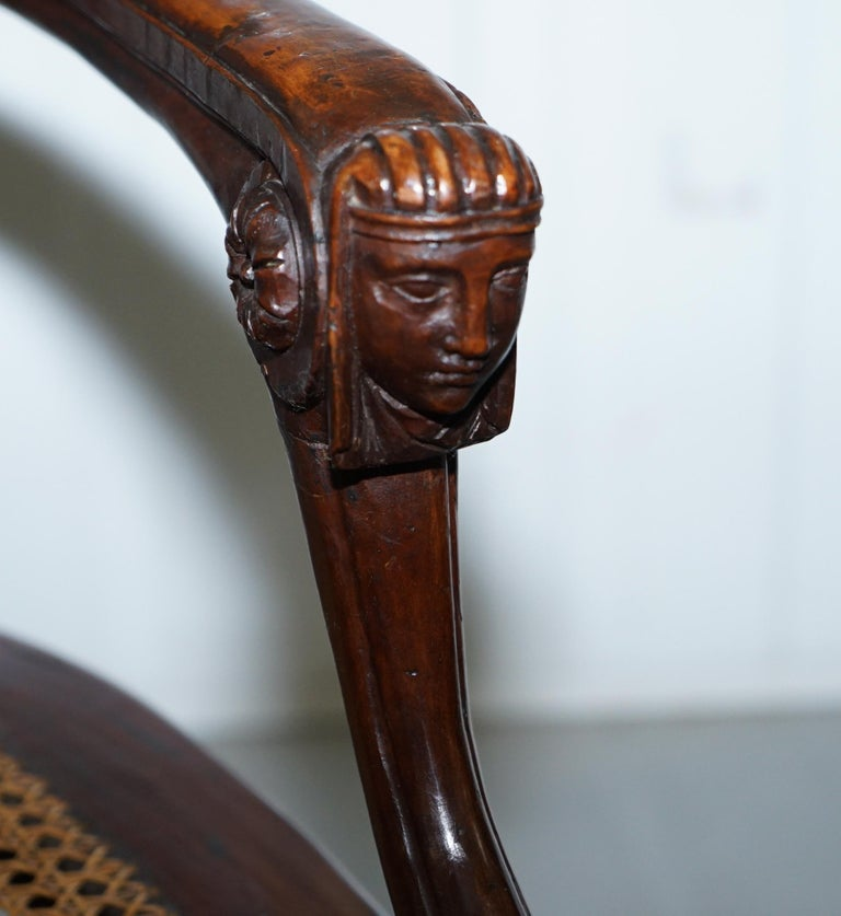 Rare 1810 Napoleon Banaparte French Empire Fruitwood Fauteuil Armchair Must See For Sale 8