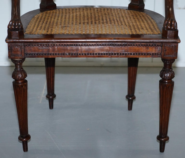 Rare 1810 Napoleon Banaparte French Empire Fruitwood Fauteuil Armchair Must See For Sale 10
