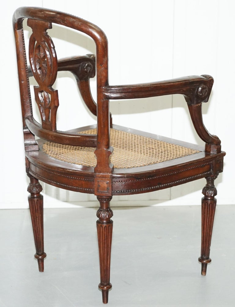 Rare 1810 Napoleon Banaparte French Empire Fruitwood Fauteuil Armchair Must See For Sale 11