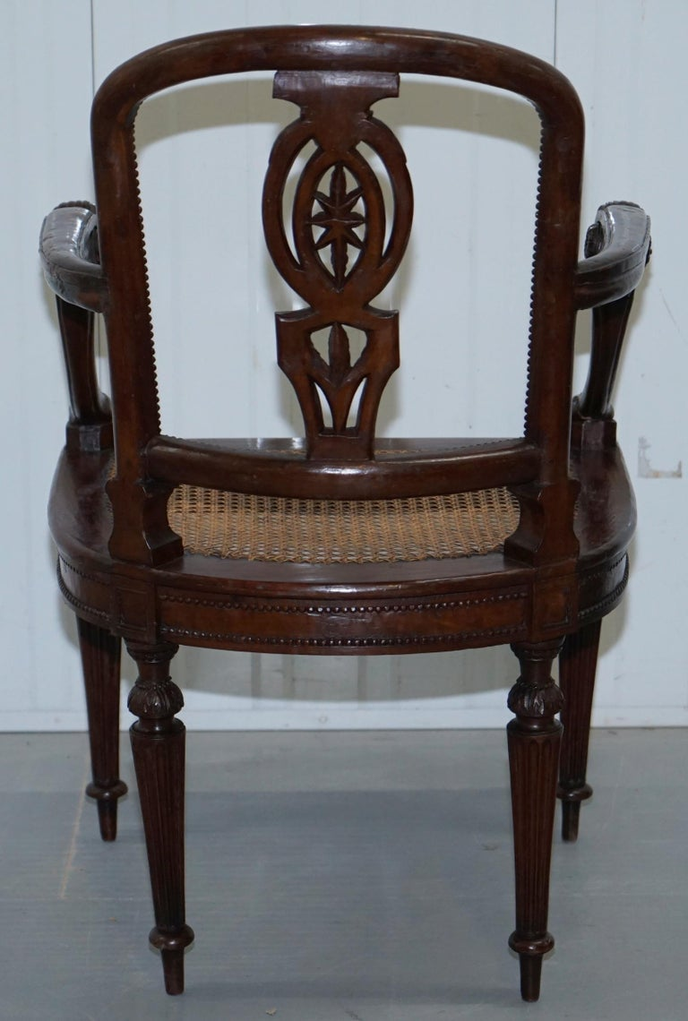 Rare 1810 Napoleon Banaparte French Empire Fruitwood Fauteuil Armchair Must See For Sale 12