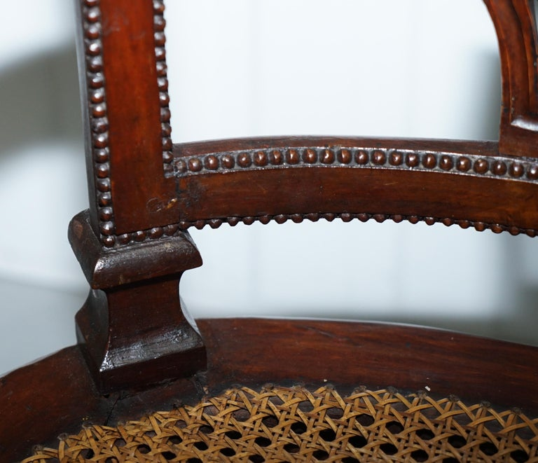 Rare 1810 Napoleon Banaparte French Empire Fruitwood Fauteuil Armchair Must See For Sale 1