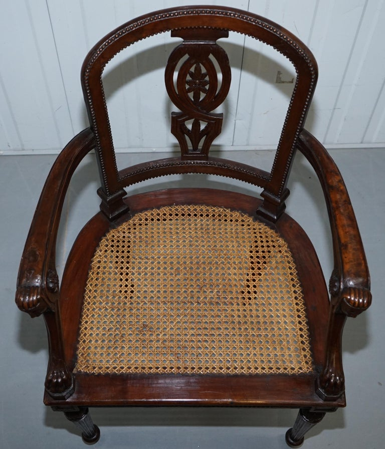 Rare 1810 Napoleon Banaparte French Empire Fruitwood Fauteuil Armchair Must See For Sale 2