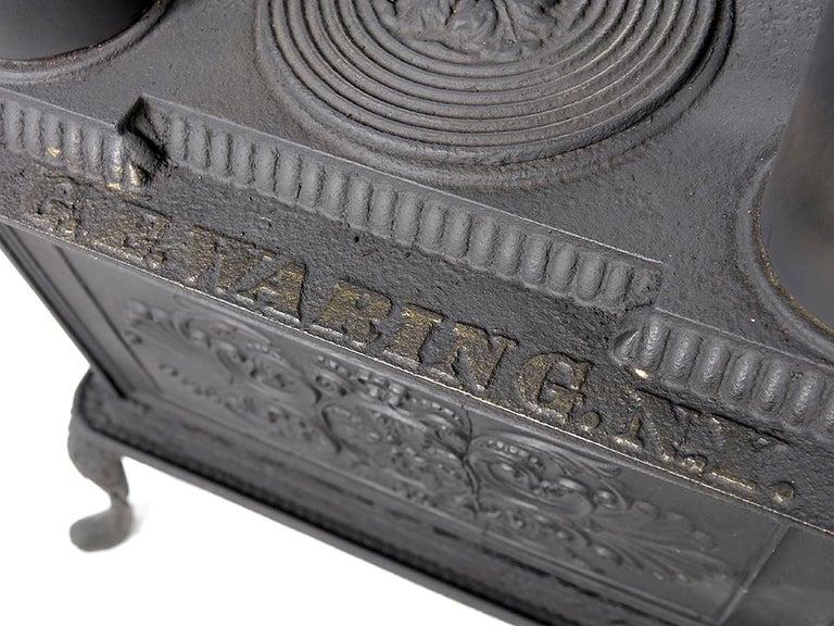19th Century Rare 1840 G.E. Waring Parlor Stove