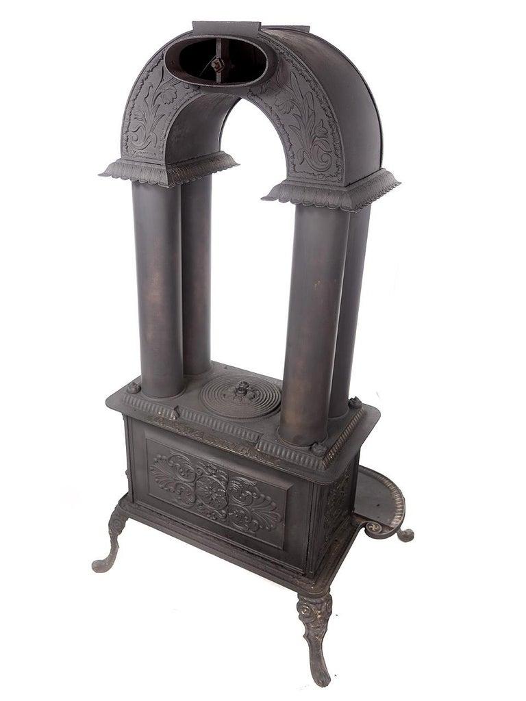 Iron Rare 1840 G.E. Waring Parlor Stove