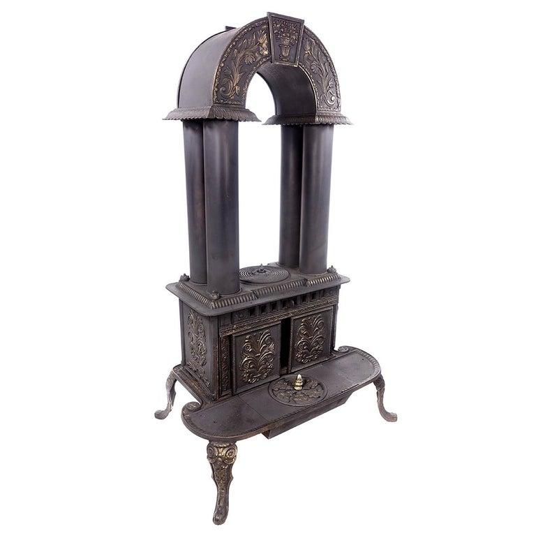 Rare 1840 G.E. Waring Parlor Stove
