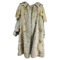 Rare 1890s Women's Cream Shaggy Mohair and Wool Winter Over Coat
