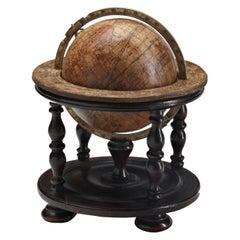 Rare 18th Century German Baroque Terrestrial Table Globe by Doppelmayr