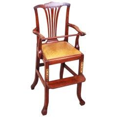 Rare 18th Century Mahogany Georgian Childs Chair