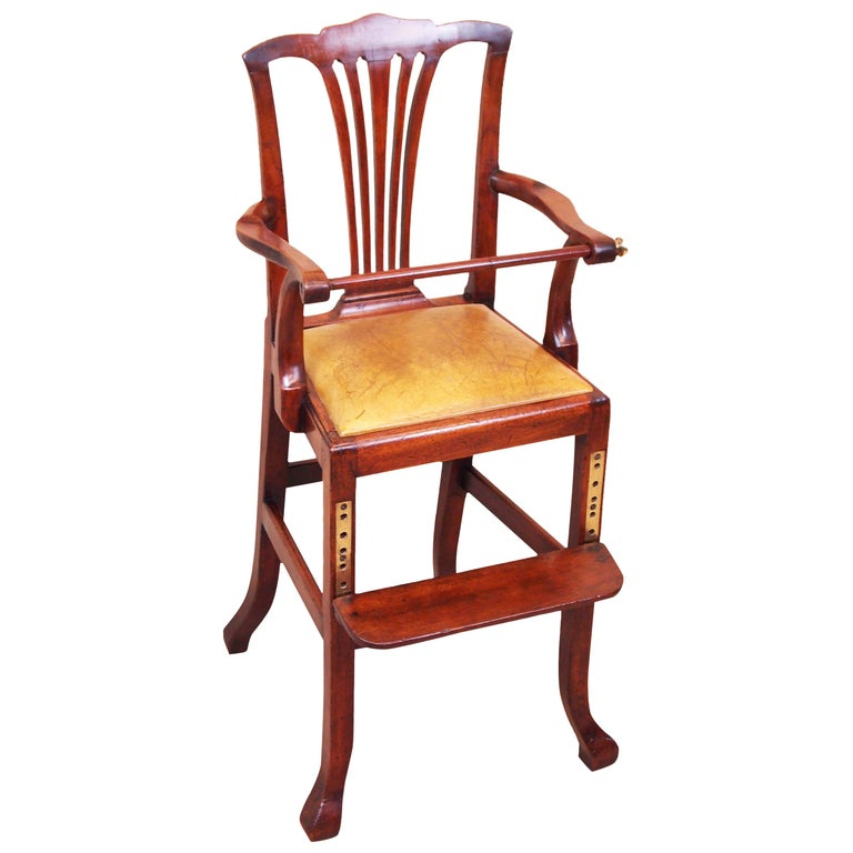 Rare 18th Century Mahogany Georgian Childs Chair