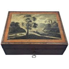 Rare 18th Century Painted Belgium Spa Box