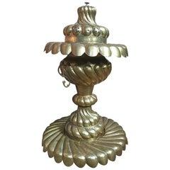 Large Rare 1930 Antique Handcrafted Sculptural Decorative Copper / Brass Urn