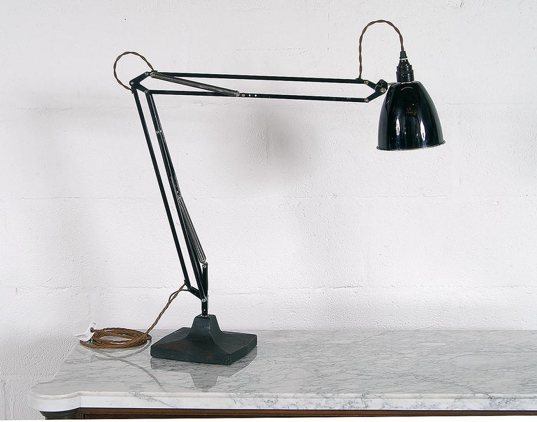 Industrial Rare 1930s Anglepoise Draughtsman's Task Desk Lamp No 1208 Herbert Terry & Sons For Sale