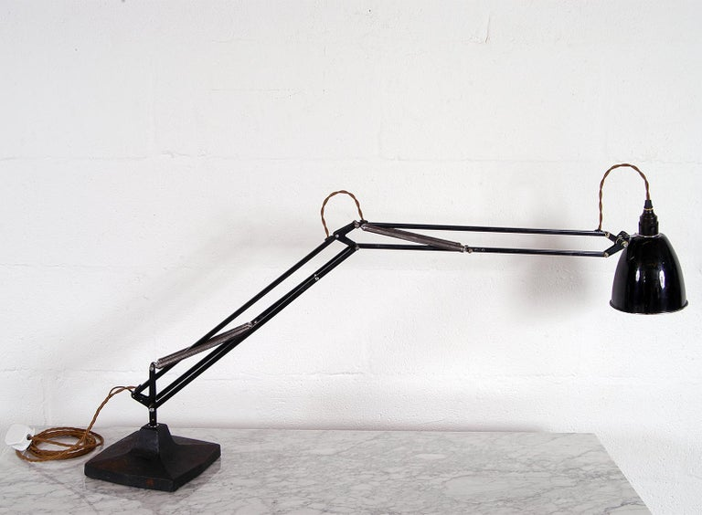 Rare 1930s Anglepoise Draughtsman's Task Desk Lamp No 1209 Herbert Terry & Sons In Good Condition In Sherborne, Dorset