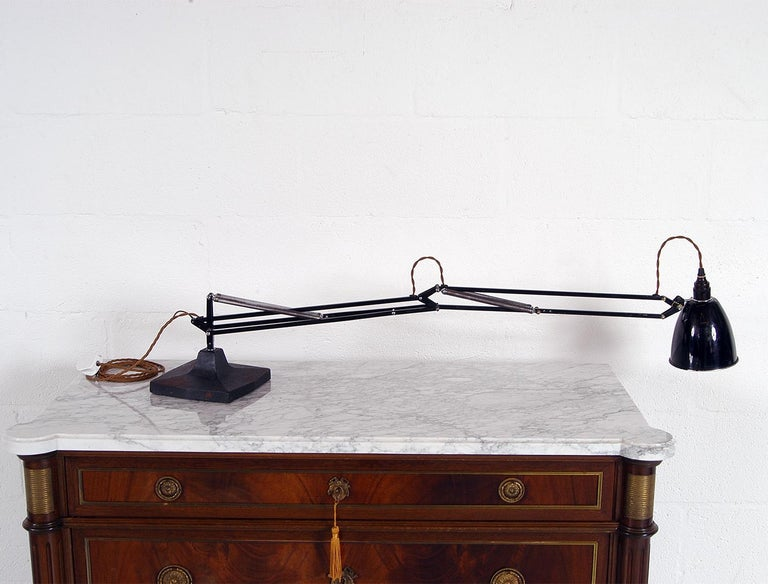 Mid-20th Century Rare 1930s Anglepoise Draughtsman's Task Desk Lamp No 1208 Herbert Terry & Sons For Sale