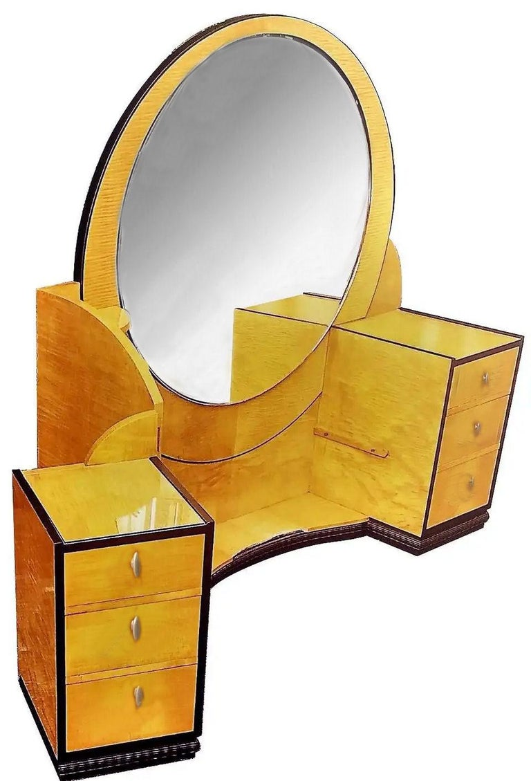 English Rare 1930s Art Deco Dressing Table Attributed to Betty Joel For Sale